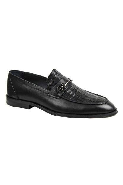 ARİNO Kösele Klasik Ayakkabı Siyah Antik / Corocco