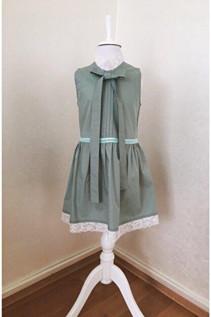 BZ Tasarım Yeşil Çocuk Elbise