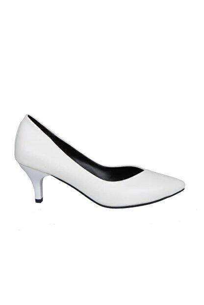 MİSS PARK MODA K613 Beyaz Kadın Stiletto