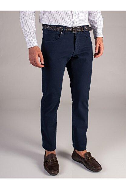 Dufy Lacivert Melanj Erkek Pantolon - Slım Fıt