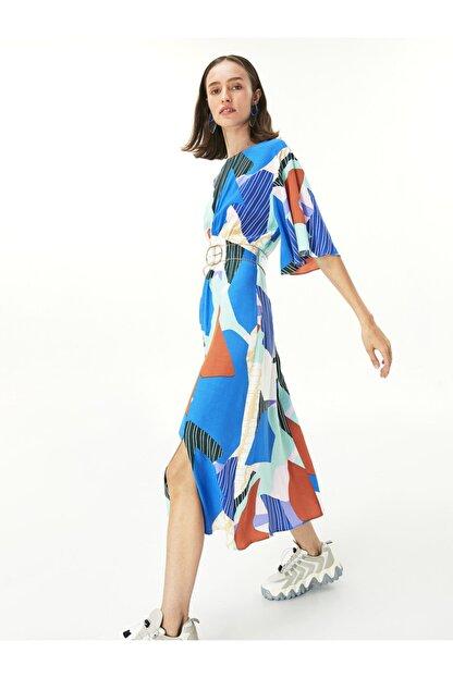 Twist Desen Geçişli Elbise