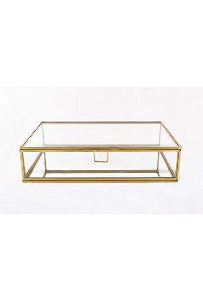 EsaDesign Cam Gold Takı Nişan Aksesuar Kutusu