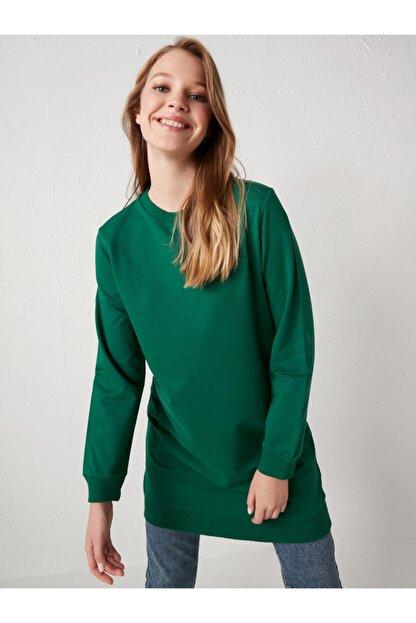 LC Waikiki Kadın Yeşil Uzun Kollu Tunik