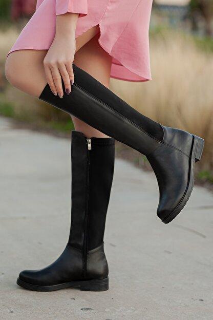 Daxtors D305 Kadın Siyah Kışlık Çizme