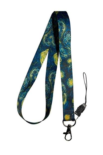 StormiStoretr Van Gogh Yıldızlı Geceler Boyun Ipi Telefon Askısı