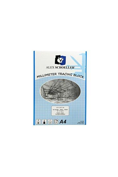 Schoellershammer A4 Milimetrik Aydınger Blok 30 Yaprak Mavi