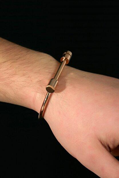 Sateen Men Erkek Gold Çelik Bileklik