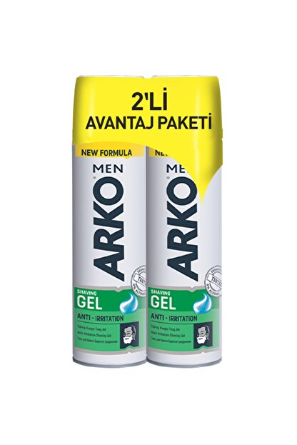 Arko Men Men Anti-Irritation Tıraş Jeli 2 x 200 ml