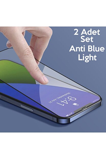 Baseus Iphone 12-12 Pro 0.3mm Full Anti Blue Light Tempered Cam Ekran Koruyucu 2adet Set