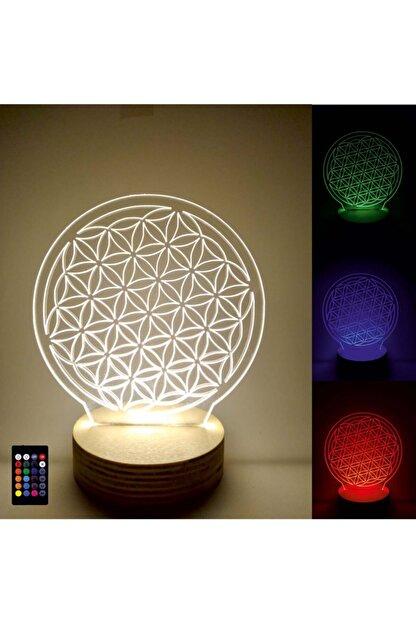 Tablo Art House 3d Led Lamba Masa Lambası Gece Lambası Yaşam Çiçeği