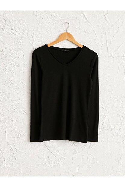 LC Waikiki Kadın Siyah  Tişört
