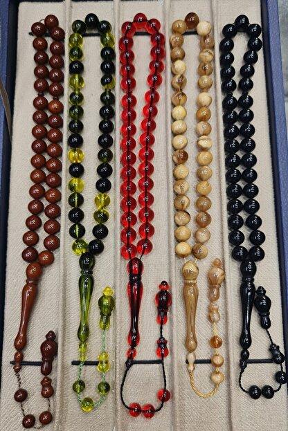 Öyküm accesory 5 Adet Yuvarlak Toz Kehribar Set