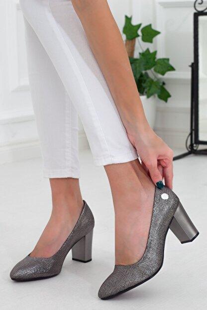 Mammamia Platin Topuklu Kadın Stiletto Ayakkabı • A202ydyl0069