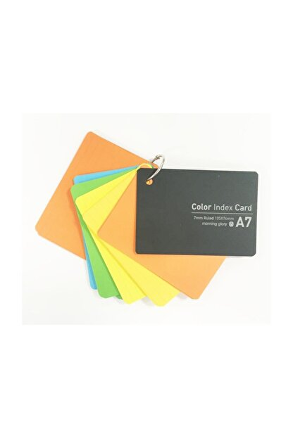 Morning Glory 23030-63379 Renkli Index Card A7