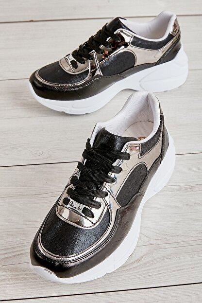 Bambi Siyah/siy.çup Kadın Sneaker L0603556109