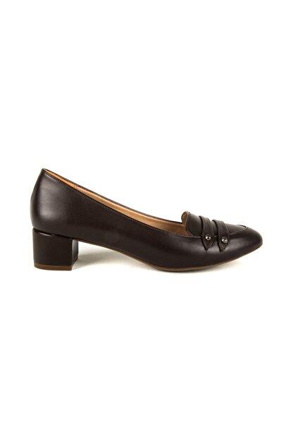 Divum Kahverengi Topuklu Ayakkabı