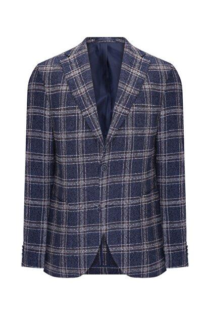 W Collection Lacivert Bukle Blazer