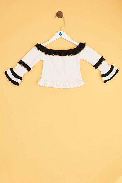 Tyess Kız Çocuk Ekru Bluz