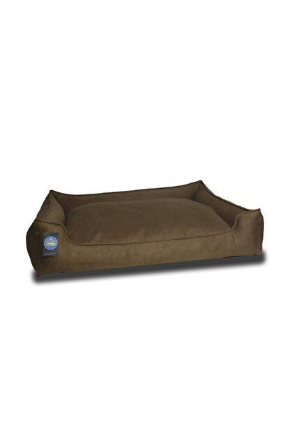 Stella Kahverengi Köpek Yatak Yıkanabilir,fermuarlı,yumuşak Xlarge