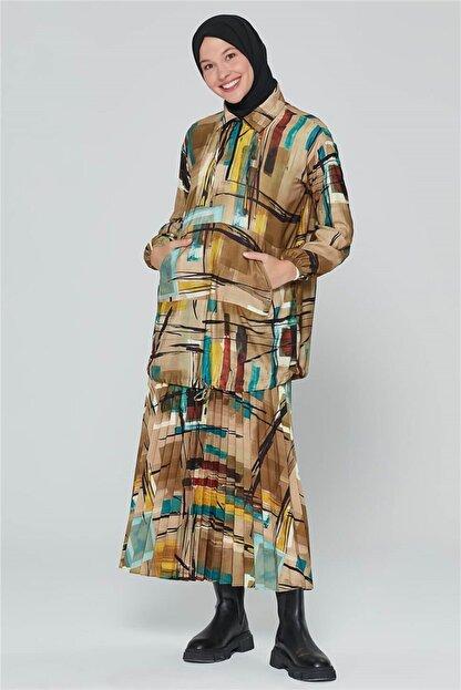 Armine Kadın Yeşili Yağ Bluz 20k3908