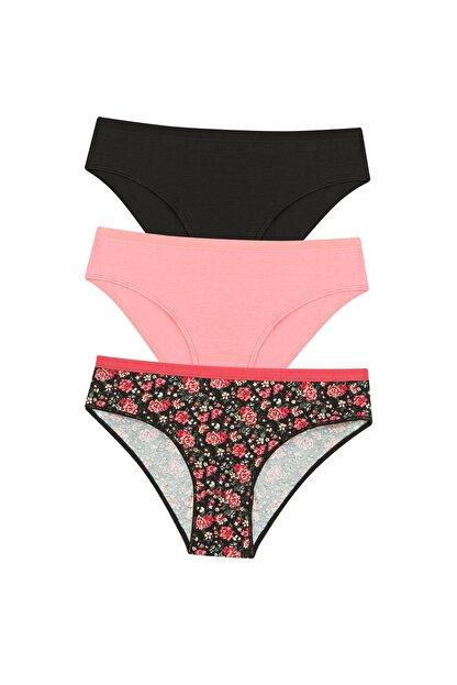 Penti Kadın Çok Renkli Spring Vibes 3Lü Slip Külot
