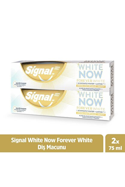 Signal White Now Forever White Anında Beyazlık + Kalıcı Diş Macunu 75 Ml X2