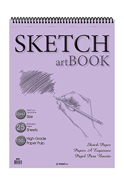 Etika Eskiz Defteri 150 gr 33x47 Cm 25 Yaprak Spiralli Sketchbook