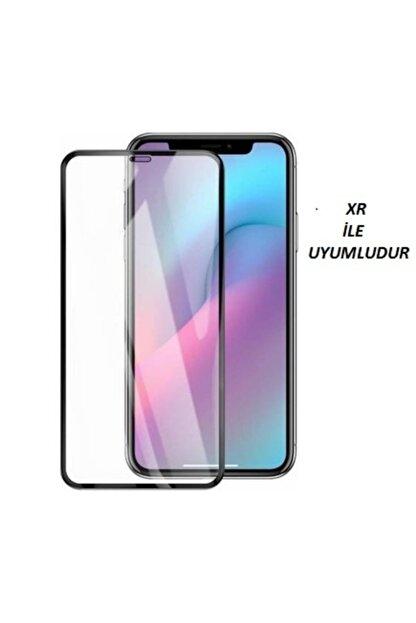 JACQUELYN Iphone Xr Curve Tempered Glass Full Siyah Cam Ekran Koruyucu