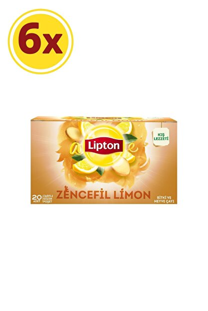 Lipton Zencefil Limon Bardak Poşet Çay X 6 Adet