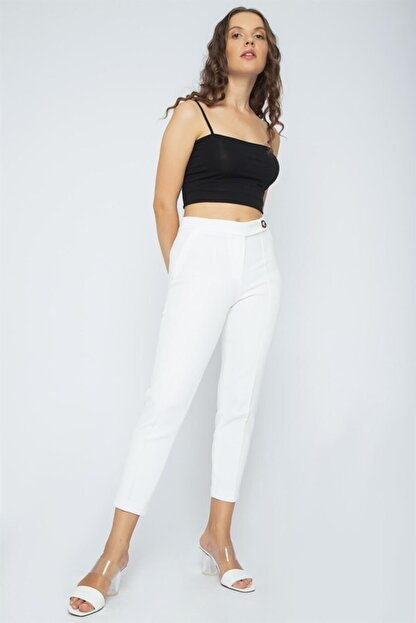 Chima Önü Nervürlü Pantolon