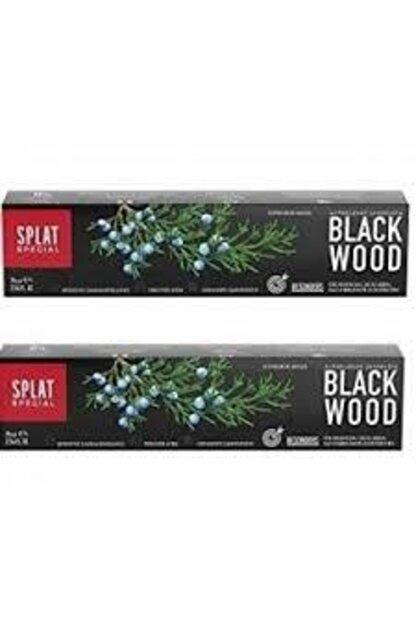 Splat Blackwood Siyah Beyazlatıcı Diş Macunu 2'li 75ml + 75ml