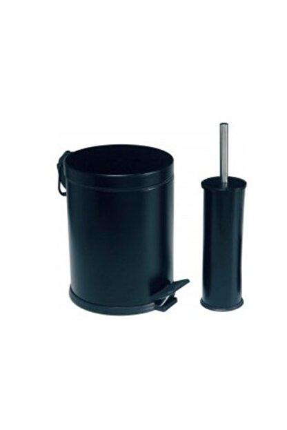 Dibanyo Banyo Seti 2'li 3 lt Çöp Kovası&klozet Fırçası Siyah