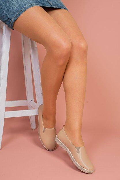 Hoba Kadın Bej Günlük Rahat Ayakkabı