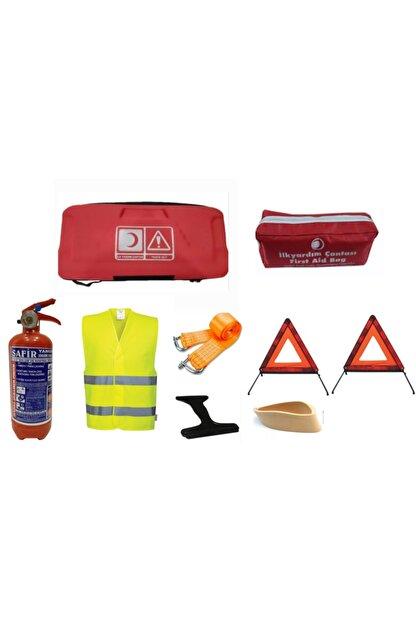 SAFİR Trafik Seti Eva Çantalı Lüx Set Kırmızı Renk -