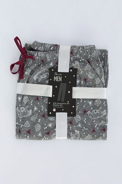 Penti Gri Melanj Gift Geometric Pantolon