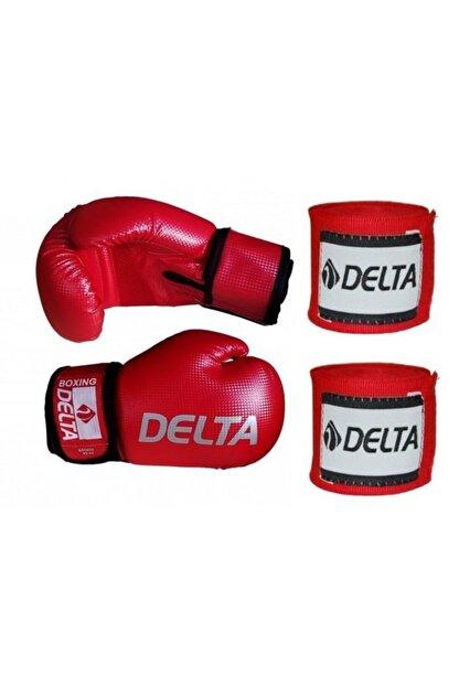 Delta Storm Deluxe Pu Boks Eldiveni + Boks El Bandajı Seti