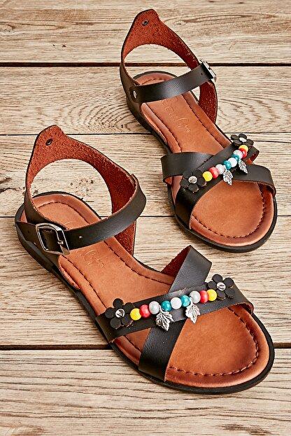 Bambi Sıyah Kadın Sandalet L0529333309