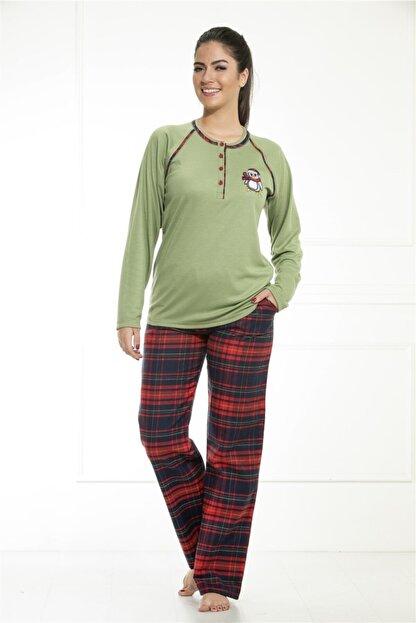 Etoile Kadın Kışlık Uzun Kol Pamuklu Pijama Takımı / 98082