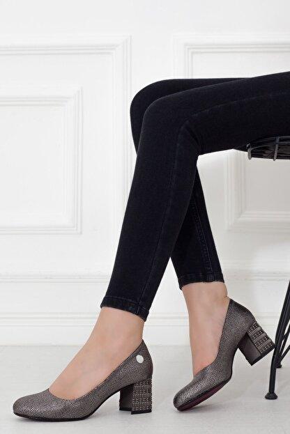 Mammamia Platin Topuklu Kadın Stiletto Ayakkabı • A202ydyl0061