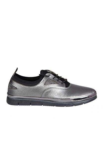 MİSS PARK MODA K16 Platin Kadın Günlük Ayakkabı