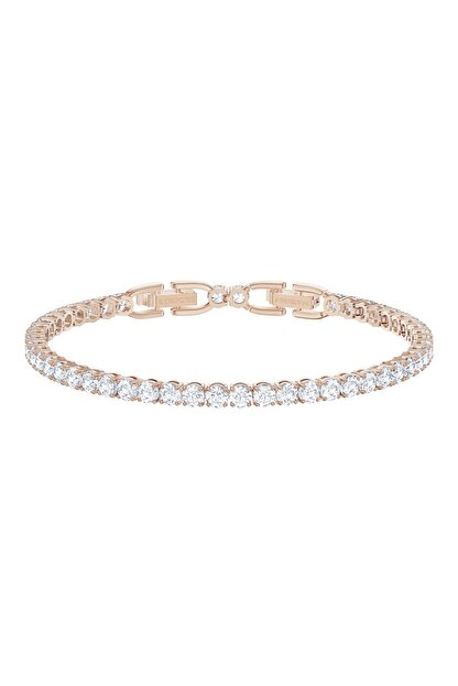 Swarovski Bilezik Tennis Dlx:bracelet Czwh/ros M 5513400