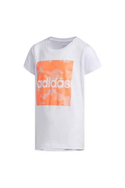 adidas Fm0824-c Yg Camo Tee Çocuk T-shirt Beyaz