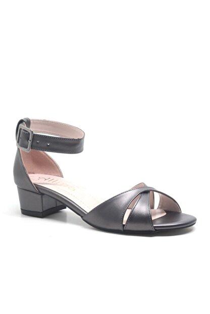ALLİNA Füme Bilek Bantlı Alçak Topuk Kadın Ayakkabı