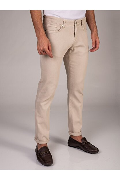 Dufy Taş Düz Likralı 5cep Erkek Pantolon - Regular Fit