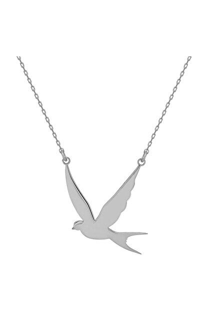 Chavin Kırlangıç Kuşu Gümüş Bayan Kolye Gk028