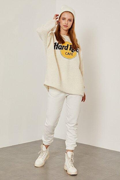 Arma Life Hard Rock Nakışlı Peluş Sweatshirt