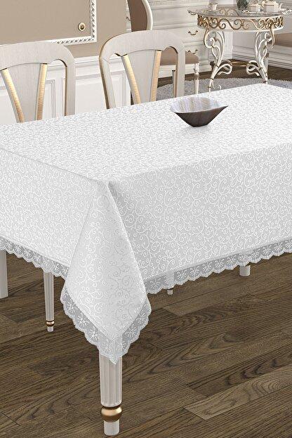 Çeyiz Diyarı Kdk Dertsiz Masa Örtüsü  - Beyaz