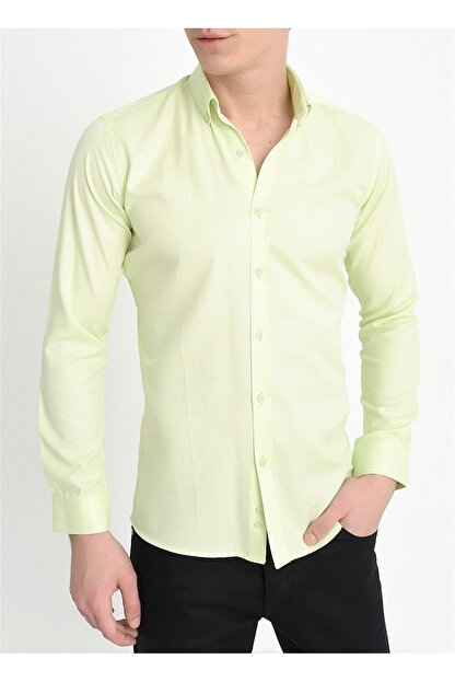Efor Gk 560 Slim Fit Limon Klasik Gömlek