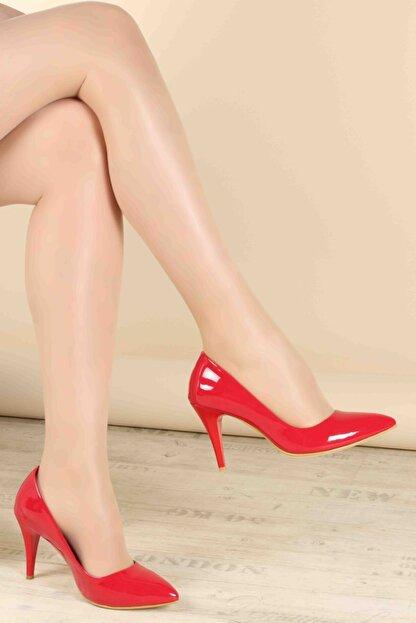Fast Step Kırmızı Rugan Kadın Stiletto Ayakkabı 629za039-089