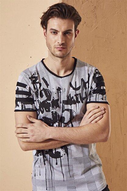 Efor Atş 011 Slim Fit Beyaz Spor T-shirt
